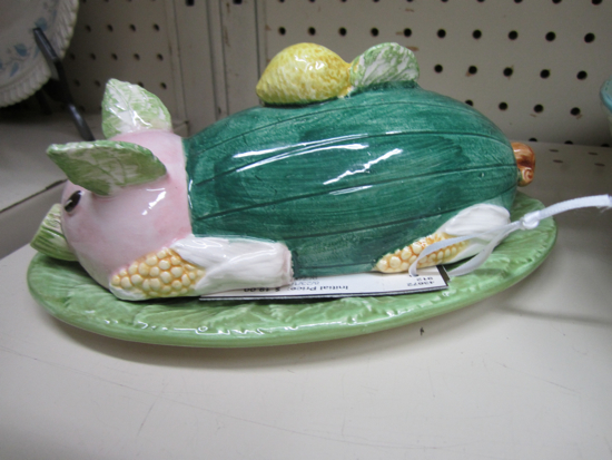 The Allee Willis Museum Of Kitsch 187 Ceramic Pig Butter Dish