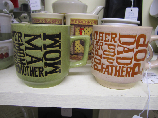 12 Mugs For Mother S Day: The Allee Willis Museum Of Kitsch » Mom & Dad Coffee Mugs