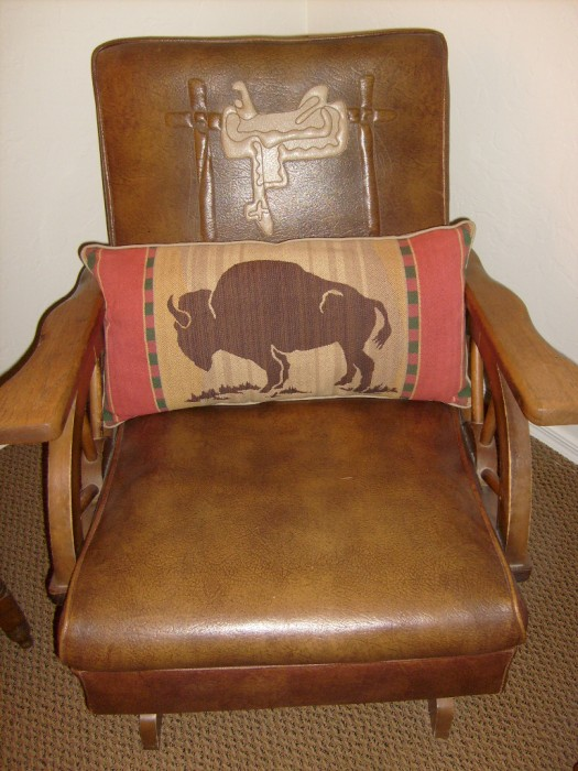 The Allee Willis Museum Of Kitsch 187 Wagon Wheel Rocking Chair