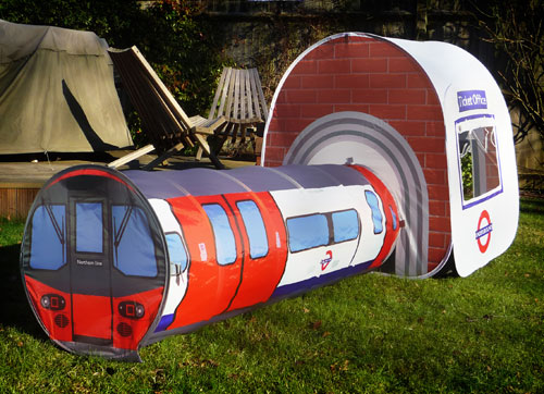 This one above is for children  love the attached ticket office and the one below is a full size adult tent..this would be a wow on the British c& site ... & The Allee Willis Museum of Kitsch » London Tube Train Tent
