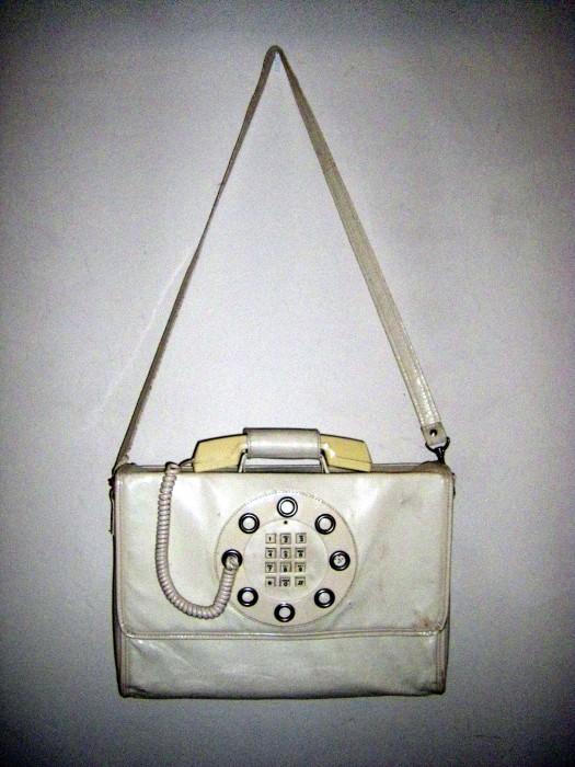 1970s White Vinyl Telephone Purse 1