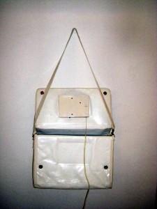 1970s White Vinyl Telephone Purse 3