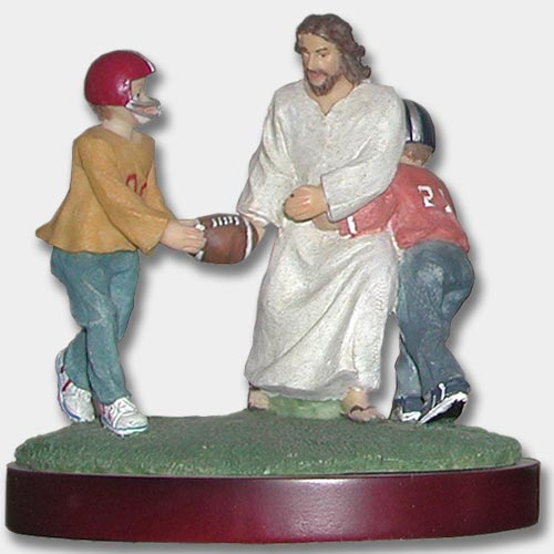 Jesus Playing Football